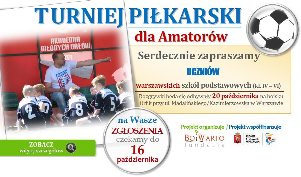 Turniej piłakrski październik 2015